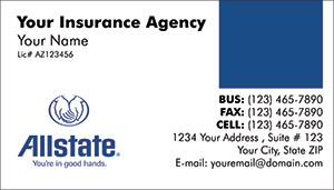 allstate insurance card template  AllState Insurance business cards PRINTZU.COM