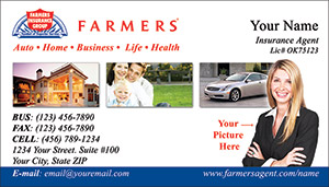 farmers insurance business card template  Farmers Insurance business card designs PRINTZU.COM