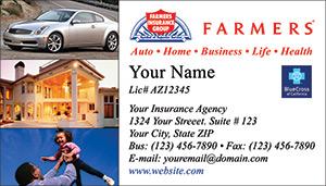 Tire Rack Coupon Code >> Farmers Insurance business card designs PRINTZU.COM